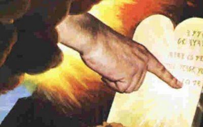Finger of God Writes Ten Commandments PreFiguring Christ as Tangible Word-Bearer